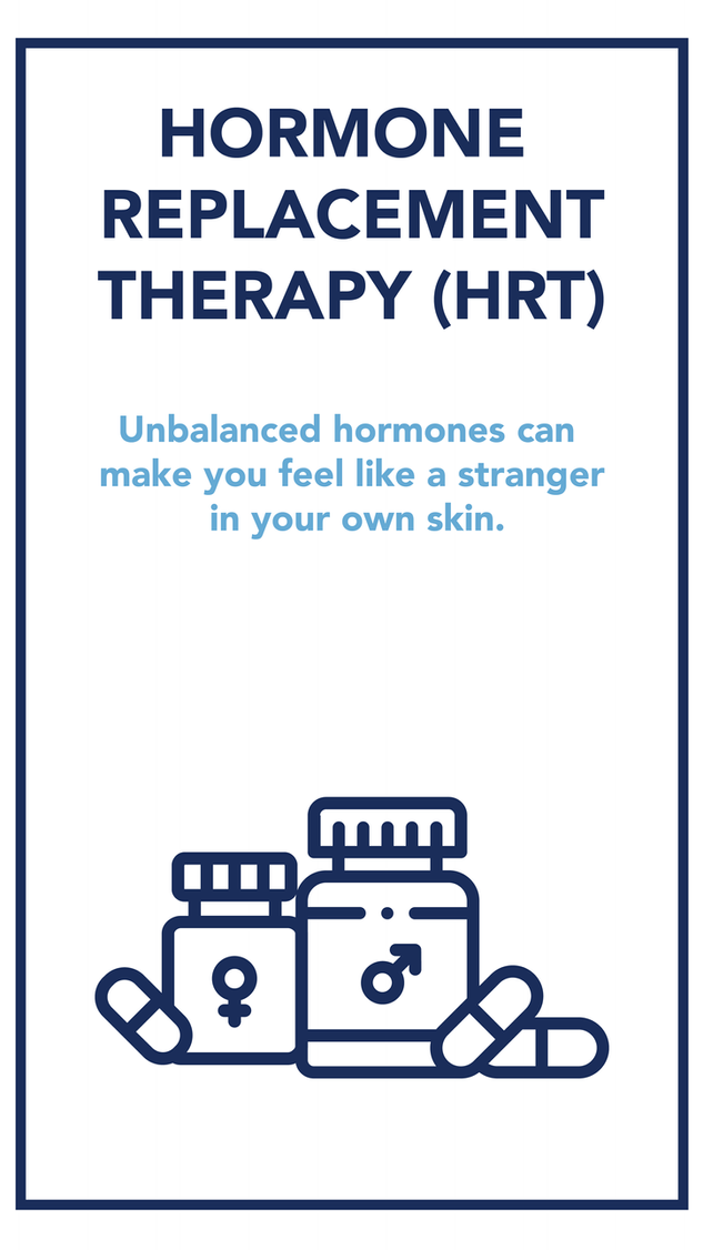 Anyone who has been through puberty knows that hormones have a powerful effect on one's body. Hormones affect many areas of your health, including your mood, your metabolism, and your sexual and reproductive function.    If your hormones become unbalanced, whether due to menopause or other factors, you may end up feeling unwell. However, compounded hormone replacement therapy (HRT) is a way to restore balance and help you feel like yourself again!