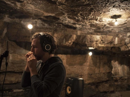Award winning artists record in the caves.