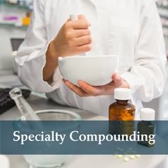 Often the right drug therapy is not available commercially. We can work with your physician to create customized medications to suit your individual needs.