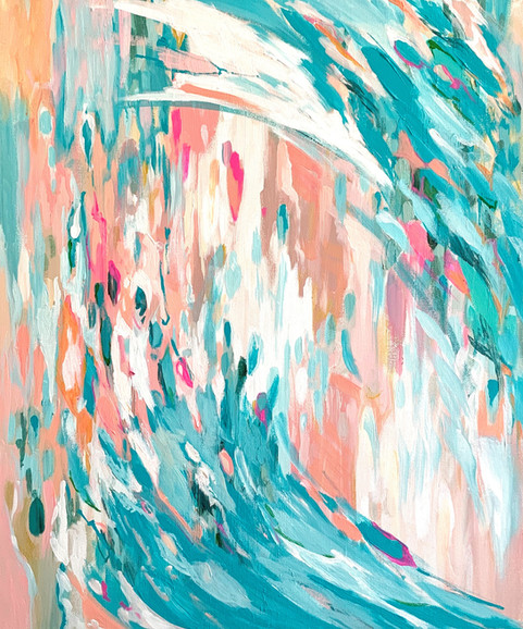 Modern Waves Acrylic Painting Interior D