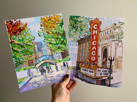 the bean, millennium park, chicago theat