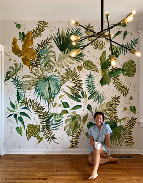 Custom Wallpaper Mural Art Jungle Kitche