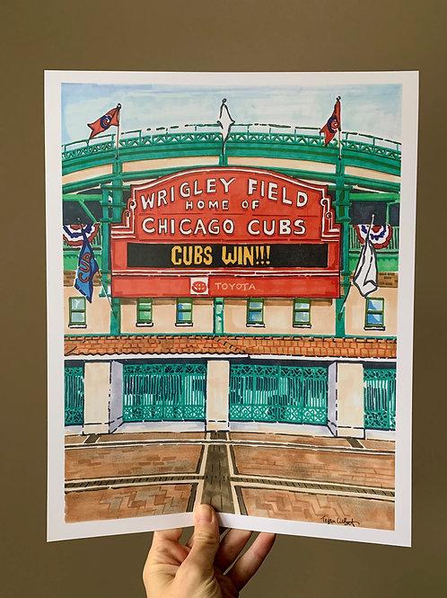Wrigley Field, Chicago Cubs Art Print