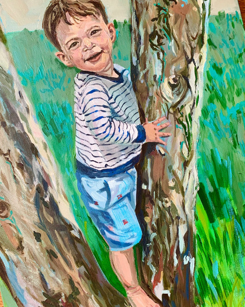 Custom Child Portrait Modern Painting.jp