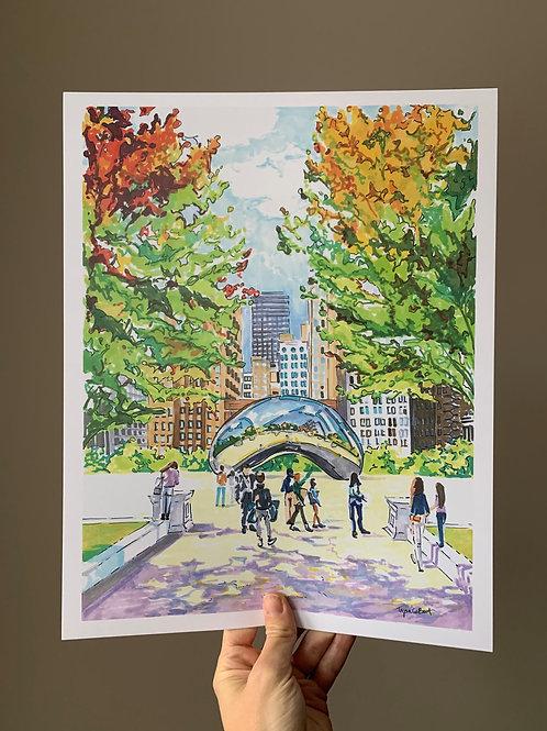 The Bean, Millennium Park Art Print