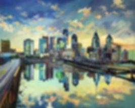 Philly Painting Skyline