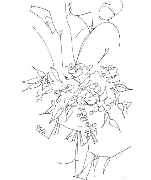 Wedding Portrait Wedding Line Drawing Cu