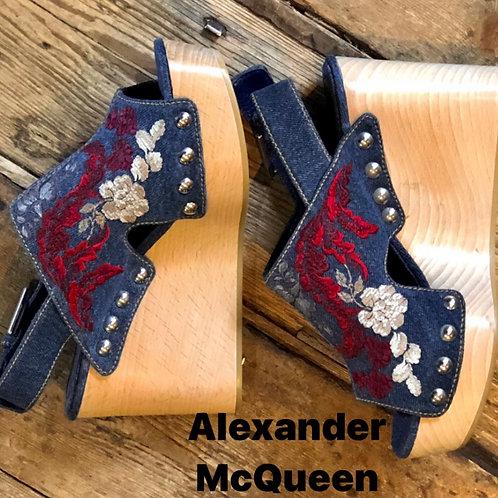 Alexander McQueen Wooden Wedges Size 36