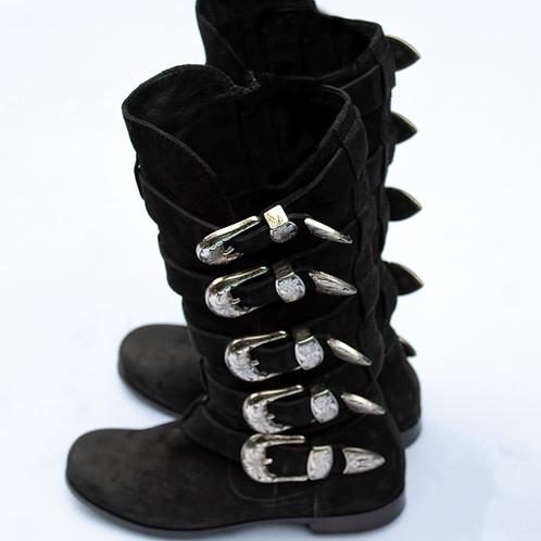Giuseppe Zanotti X Balmain Buckle Boots / Size IT 37