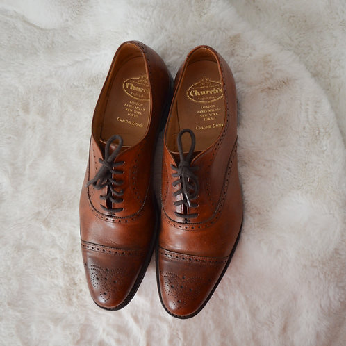 Church's Tan Leather Brogues - Size 43