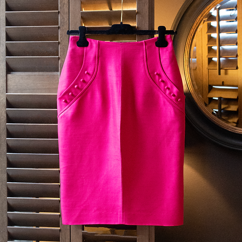 Valentino Fuschia Pencil Skirt / UK 6