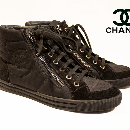 Chanel High Cut Trainer Size 38