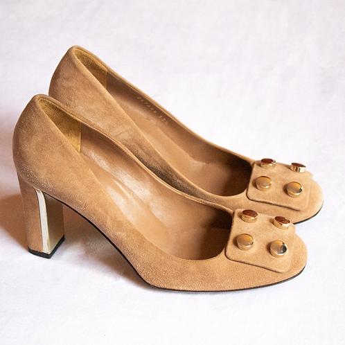 Gucci Beige Suede Shoes