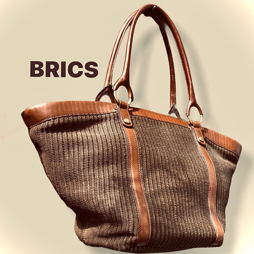 Brics Woven And Leather Bag