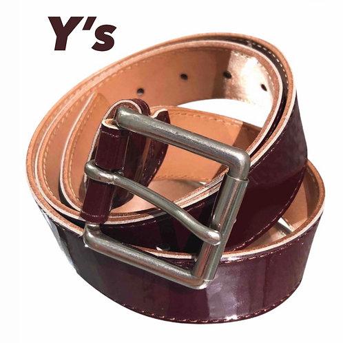 Yohji Yamamoto Burgundy Patent Belt