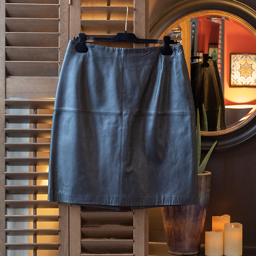 Luisa Spagnoli Leather Skirt / IT 50