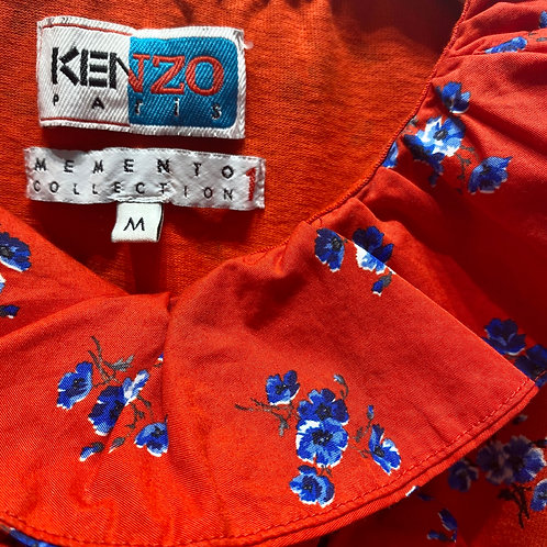 Kenzo Floral Ruffled T-Shirt - Size M