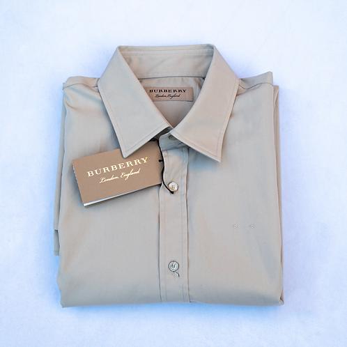 Burberry London Beige Shirt / Size 15.5/39