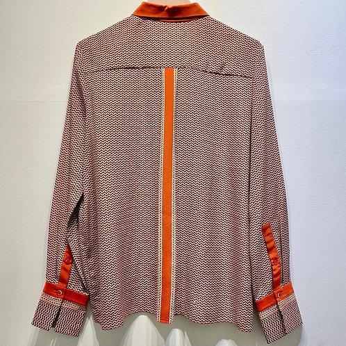 Chloé Silk Patterned Shirt - Size FR 42