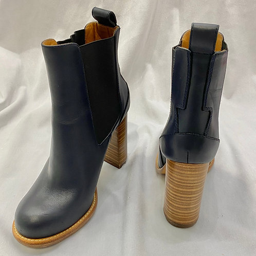 Chloé Navy Ankle Boots - Size EU 37