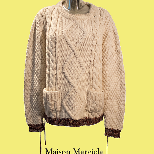 Maison Margiela Cream Jumper / Size M
