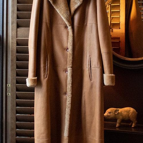 Valeriano Natale Ferrario Sheepskin Coat / Size 12