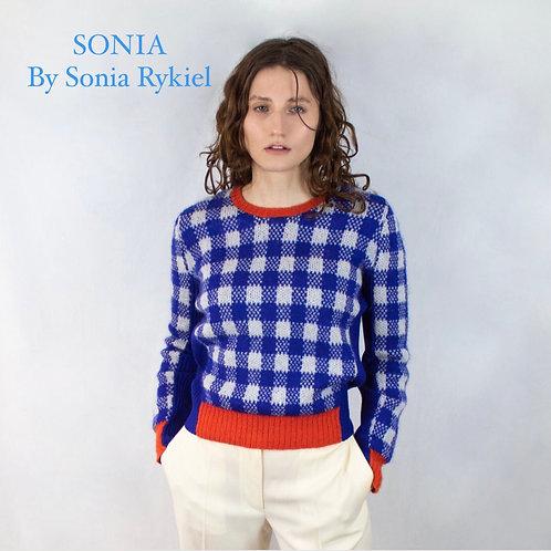 Sonia By Sonia Rykiel Check Jumper Size M