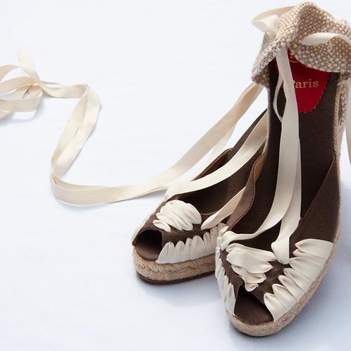 Christian Louboutin Cloth Ankle Tie Espadrilles / Size 39