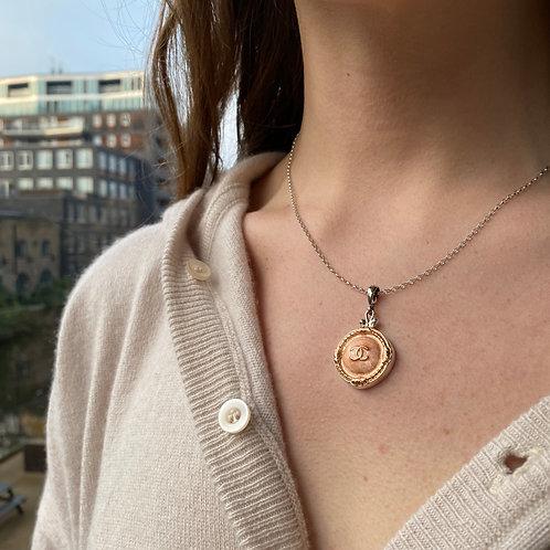 Chanel Vintage Button Pendant