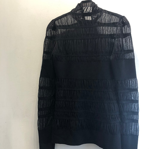 Alexander McQueen Sheer Knit Panelled Top Size 8/10