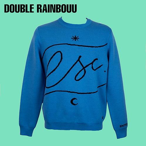 Double Rainbouu Uuooll Jumper / Size M-L