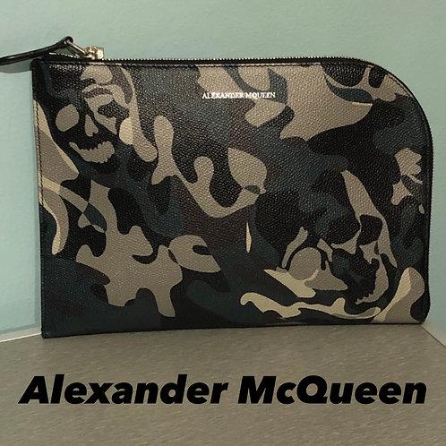 Alexander McQueen Skull Camouflage Jaquard Toilet Bag