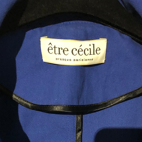 ETRE CECILE Cotton-Crepe Hooded Jacket Oversized  Small