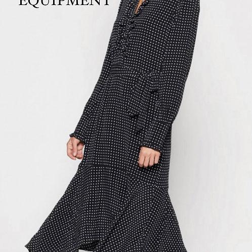 Equipment Palo Silk Polka Dot Dress Size Small