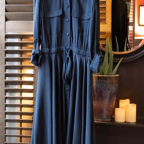 Equipment Jacquot Midi Shirt Dress / Size UK 14