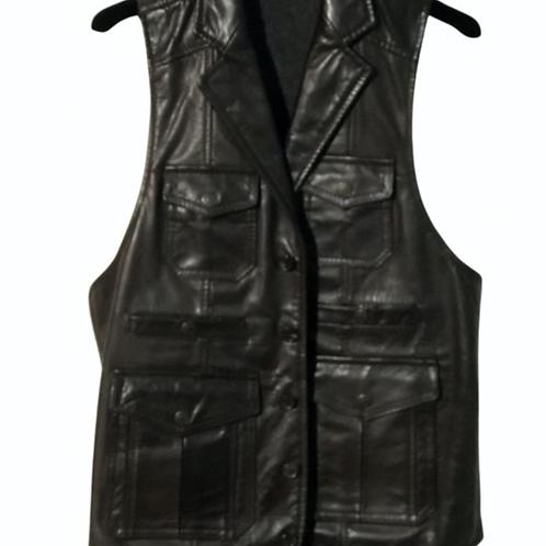 D Squared Leather Waistcoat  IT 50 -UK 40