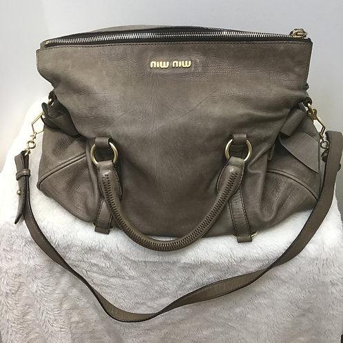 Mui Mui Soft Leather Vitello  Shoulder  Bag