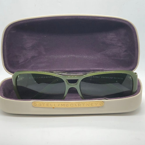 Stella McCartney Dark Green Aviator Glasses