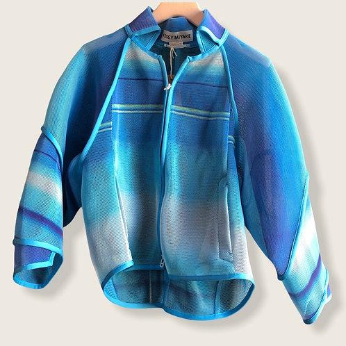 Issey Miyake Blue Mesh Fabric Jacket Size 3