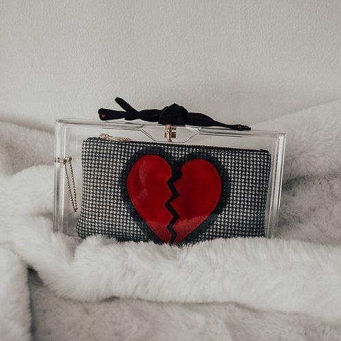 Charlotte Olympia Perspex Broken Heart Clutch