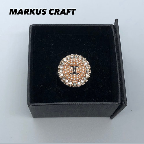Chanel Vintage Button Ring Handcrafted By Markus Craft