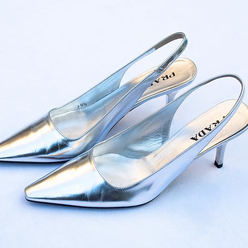 Prada Silver Shoes / Size 35.5