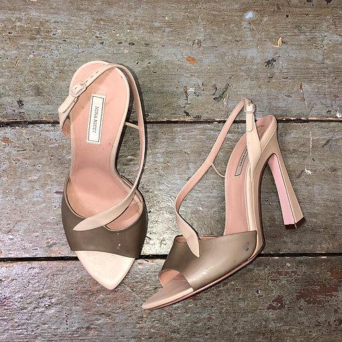 Nina Ricci Blush Pink & Taupe Heels - size 39