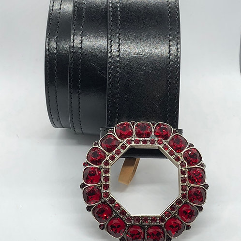 Alexander McQueen Swarovski Red Crystal Belt