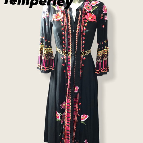 Temperley London Cotton Embroidered Dress Size 8-10