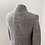 Thumbnail: Matthew Williamson Tweed With Weaved Silver Thread Classic Coat Size 8