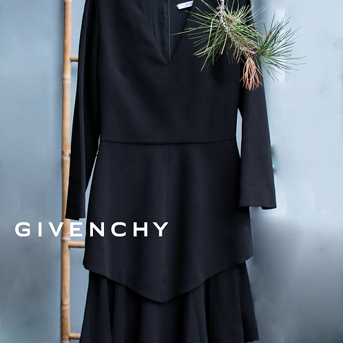 GivenchyRobe Manches Longues Noir / Size 38
