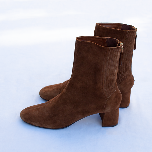 Aquazurra Saint Honoré Suede Ankle Boots / Size IT 37.5