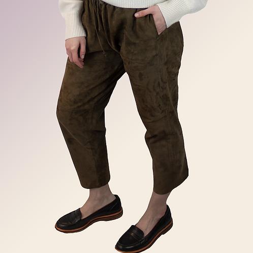 Joseph Suede Drawstring Trousers / Size M