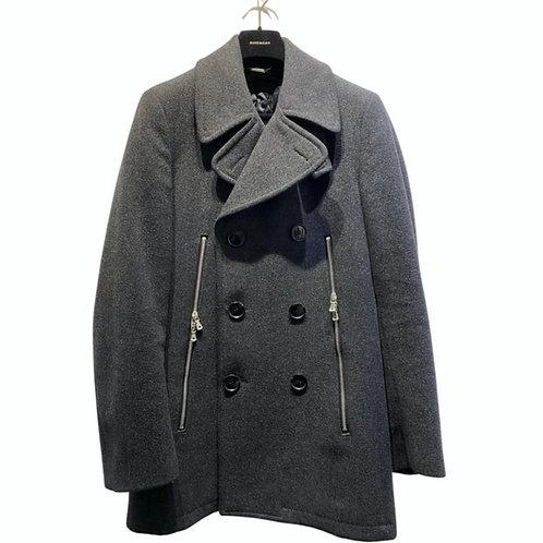 Dolce & Gabbana Grey Wool Coat Size IT 44